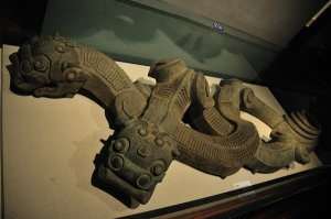 Qin Dynasty (475-207 BCE) bronze dragon design - Shaanxi History Museum, Xi'an, China