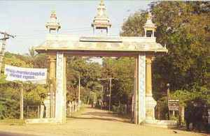 Shrine gate to Srivaishnavi temple, Aavadi