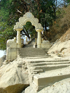 Gateway to the Umananda Temple, Kamrup, Nepal