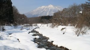 View with a room: The Torii River and Mount Kurohime in their snowy glory | C.W. NICOL PHOTOS