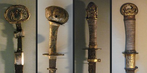 Other Kofun period swords (view of hilts) from Metropolitan Museum Photo: Wikimedia Commons