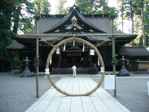 Chinowa harae ritual at Katori Jingu, Katori City, Ibaragi