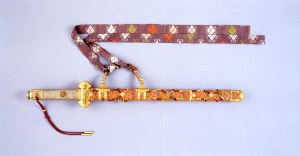 Brocaded and Jeweled Scabbard Edo Period Yasaka Shrin3
