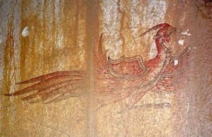 Suzaku, Red Bird of the South, (Image credit: National Research Institute for Cultural Properties, Nara)