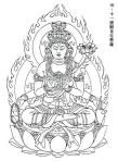This image of Avalokitesvara is said to have been by Kuya himself, which he carted around on his nembutsu rounds (Source: Sacred Japan)