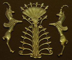 Gold Decorative Pieces Achaemenid Period, 5th - 4th century, B.C. In the collection of the Reza Abbasi Museum, Tehran