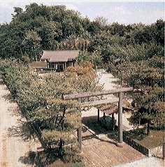 There is a shrine dedicated to Kanayago Photo credits:  Hitachi Metals Yasugi factory.