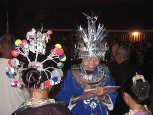 Elaborate headdresses of the Dong ethnic peoples of China