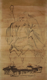 Sarutahiko Ōkami, in a somewhat comical depiction; taken from a late-19th-century Japanese painting Photo: Wikimedia Commons