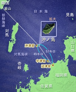 Map of Okinoshima Island