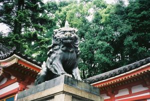 One-horned unicorn-lion of Yasaka Jinja shrine
