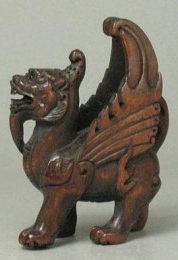 Netsuke with wings, looking more like Central Asian mythical winged horses or sphinx-like beasts (photo: Tide Mammoth)