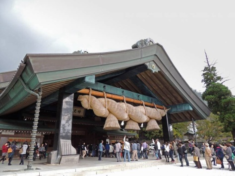 Twisterela: A shinenawa (twisted rope) adorns the Kagura hall at Izumo Taisha shrine in Shimane Prefecture (Davey Young)