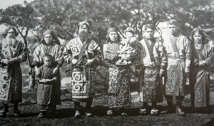Cloud spiral motif seen on traditional clothing of Ainu people, c. 1904 (Wikipedia)