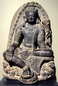 Manjusri Kumara Bodhisattva sculture belonging to the Pala Dynasty (Open source photo: Wikimedia Commons)