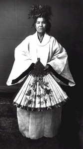 Noro priestess of Ryukyu. Meiji and Taisho eras(1868-1926) source: Wikimedia Commons